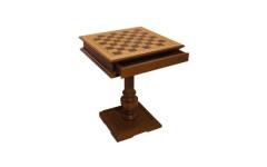 Шахматный стол Эксклюзив, темный дуб, без фигур