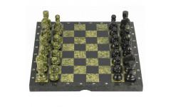 Шахматы камень, змеевик доска