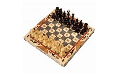 Шахматы резные ручной работы С Гербом малые