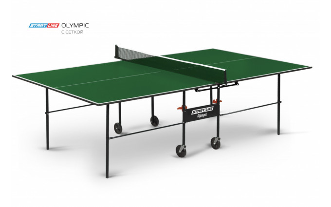 Теннисный стол Olympic green с сеткой