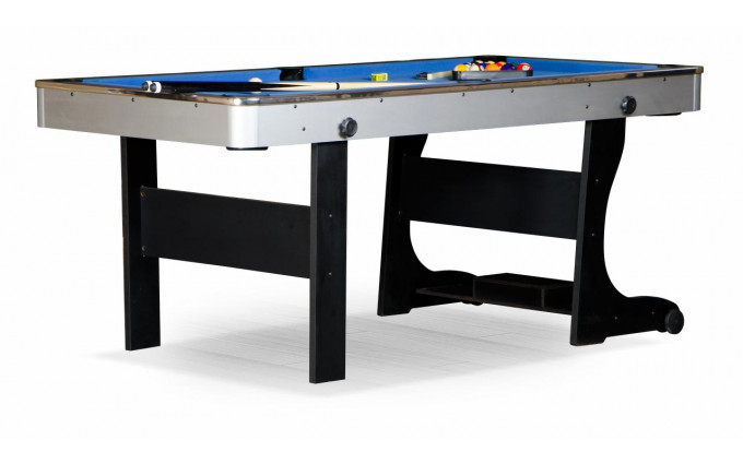 Бильярдный стол для пула  Team II 6фт (черный,ЛДСП)
