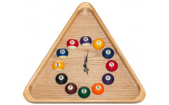 Часы треугольные с шарами